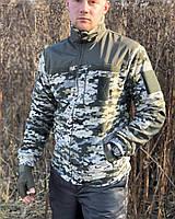 Кофта реглан флисовая военная армейская COMANDER Пиксель ЗСУ, реглан для рыбалки и охоты, фото 1