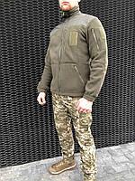 Тактический флисовый реглан кофта, для военных, рыбаков, и охотников  COMANDER-I OLIVE MAN, фото 1