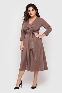 Шикарное БАТАЛЬНОЕ платье с запахом Люрекс 50,52,54,56 размер