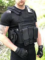Армейский тактический разгрузочный жилет (разгрузка, плитконоска) с Molle, подсумками Материал оксфорд 800D, фото 1