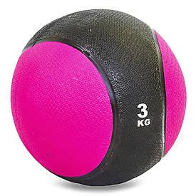 М'яч обважений гумовий медбол 3кг Record Medicine Ball C-2660-3