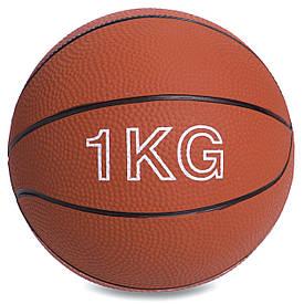 М'яч медичний медбол 1кг Record Medicine Ball SC-8407-1