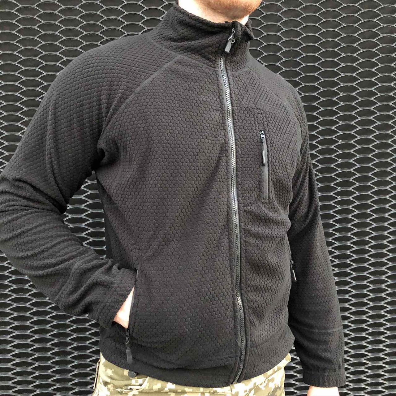 Флиска тактическая, армейская, военная кофта ESDY Shark кубик черный