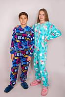 Махровый комбинезон, пижама, кигуруми для мальчика - подростка (велсофт) [Рост: 152]