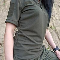 ФУТБОЛКА ПОЛО ОЛИВА COOLPASS, фото 1