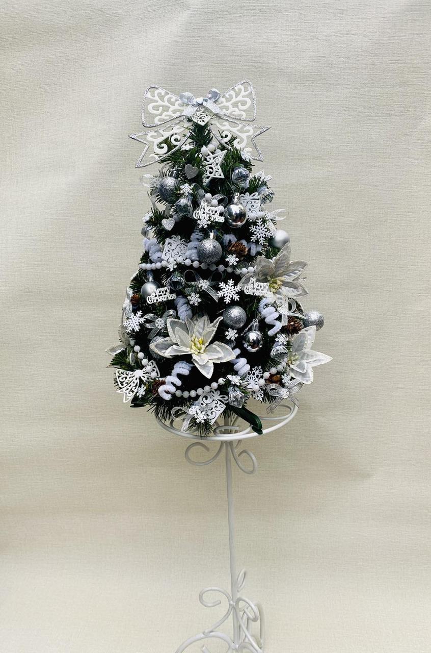 Новогодняя украшенная ёлка 40см | Эксклюзивная маленькая елка на Новый Год 2021