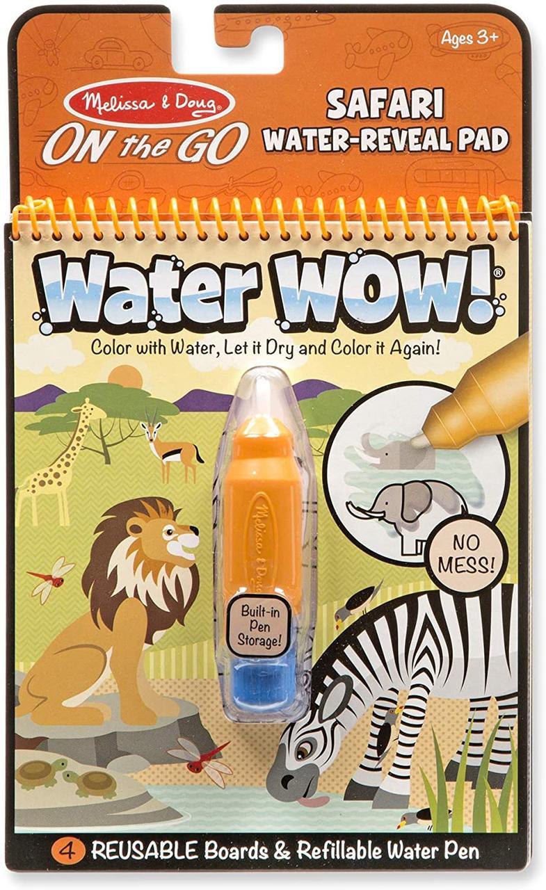 Melissa & Doug Волшебная водная многоразовая раскраска Сафари 9441 On the Go Water Wow! Safari