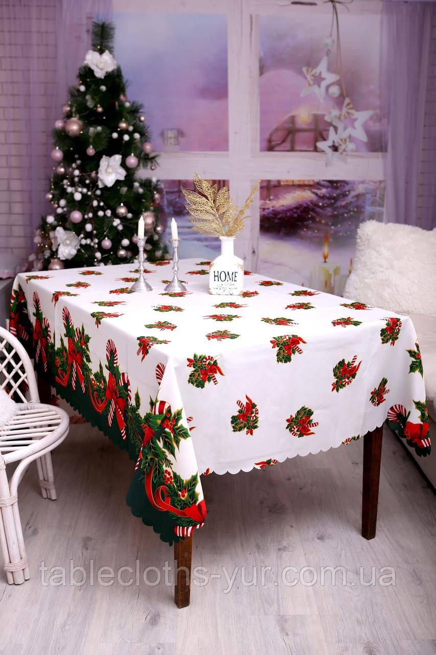 Скатерть Новогодняя 150-220 «Лединец»