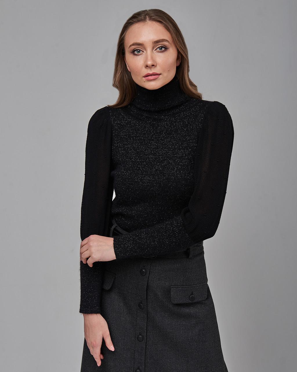 Женский черный свитер Serianno. Турция