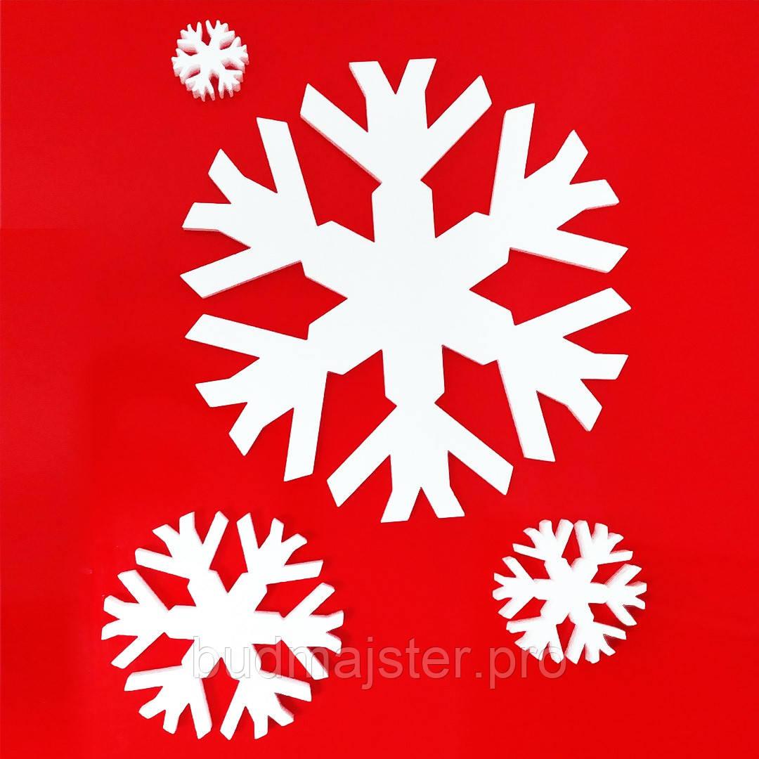 Декор з пінопласту Сніжинка №2