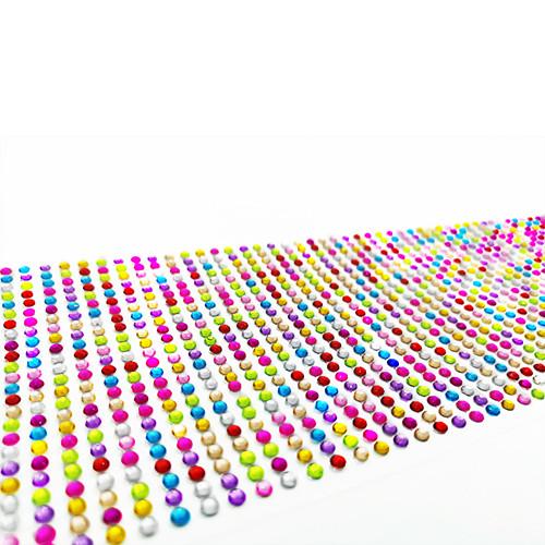 Цветные стразы клеевые 1200шт, украшения