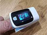 Пульсоксиметр - пульсометр Kron на палец для измерения кислорода в крови Бело-голубой (hub_Lqbx34249), фото 2