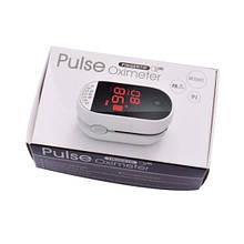 Пульсоксиметр на палец для измерения пульса и сатурации крови BOXYM C101B1 White (FL000079)