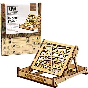 Деревянный конструктор подставка для телефона из дерева phone stand «Unitywood», 22 детали (4820249160008).