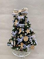 Новогодняя украшенная ёлка с пряничными игрушками 40см | Эксклюзивная маленькая елка на Новый Год 2021
