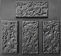 """Комплект """"Ракушняк"""" - 3 формы для камня: 30х15х2,5 см. 1 м² = 22,2 шт."""