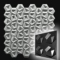 """Форма """"Стоун №1"""" для шестигранною декоративної гіпсової плитки (форма для 3д панелей з абс пластику)"""