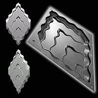 """Форма """"Титан №2"""" для декоративных 3D панелей из гипса (форма для 3д панелей из абс пластика)"""