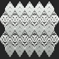 "Комплект форм ""Титан"" для декоративных 3D панелей из гипса(форма для 3д панелей из абс пластика)"