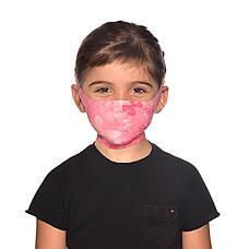 Маска защитная детская Buff Kids Filter Mask Nympha Pink, фото 3