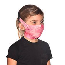 Маска защитная детская Buff Kids Filter Mask Nympha Pink, фото 2