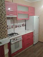 Кухня красный металик перламутр МДФ