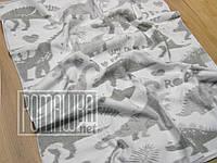 Плотный 140х100 хлопковый флисовый детский плед байковое одеяло для новорожденных детей малышей 1579 Серый