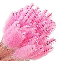Щёточки для ресниц и бровей с блёстками, розовая, 10 шт