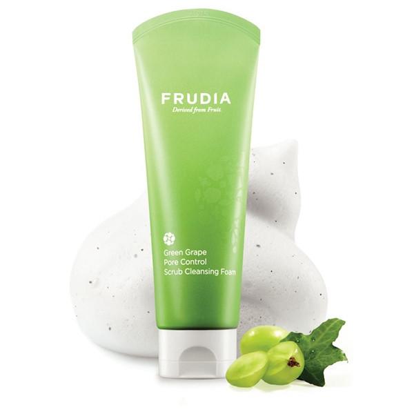 Frudia Green Grape Pore Control Scrub Cleansing Foam Скраб-пенка с виноградом, 145 мл