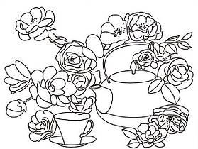 """Роспись по холсту """"Чайные розы"""" 30*40 см. 1Вересня"""