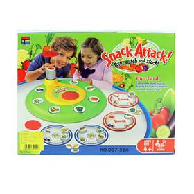 Настольная игра 007-31A  Атака продуктов, игровое поле,фишки,в кор-ке, 32,5-25-6,5см