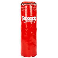 Мешок боксерский Цилиндр ПВХ h-100см BOXER Классик 1003-03 (наполнитель-ветошь х-б, d-33см, вес-26кг, цвета в