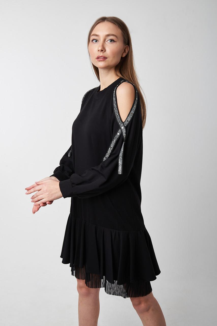 Черное платье прямого силуэта. Турция