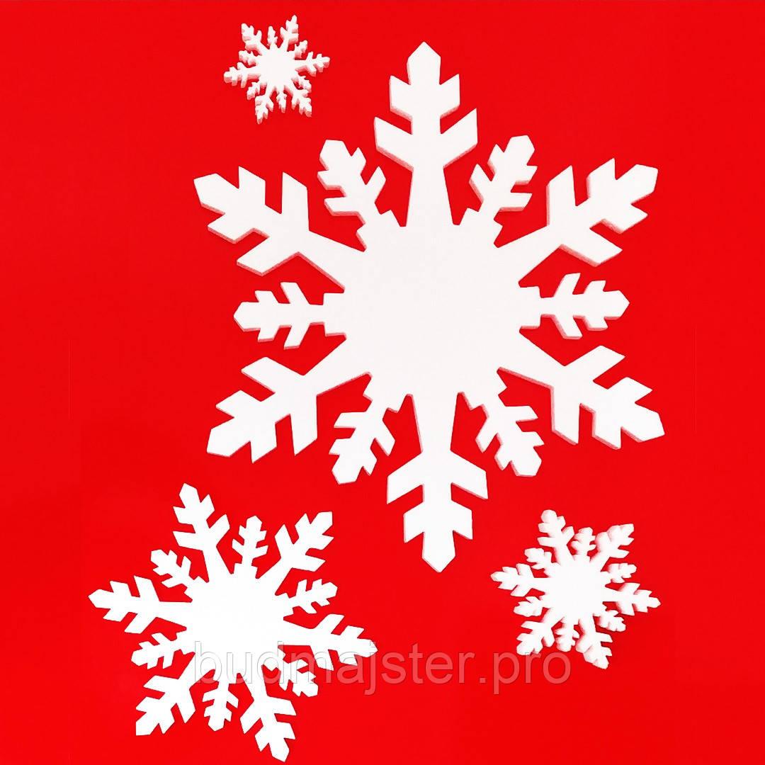 Декор з пінопласту Сніжинка №3