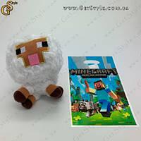"""Плюшевая овечка из игры Майнкрафт - """"Minecraft Sheep"""" - 16 см с пакетом, фото 1"""