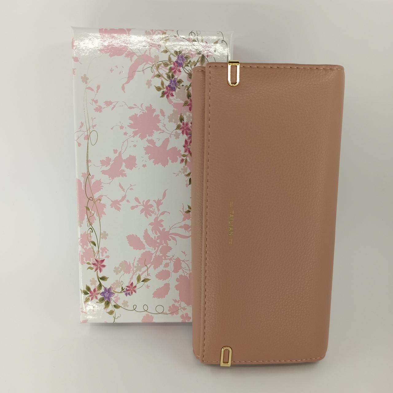 Классический женский кошелек клатч на магнитах из качественной PU кожи Tailian T88200-201