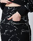 Трендовый теплый женский костюм двойка (кофта и юбка). Турция, фото 3