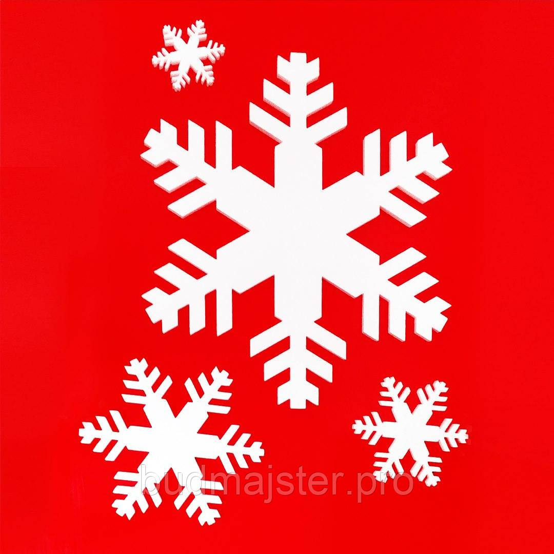 Декор з пінопласту Сніжинка №1