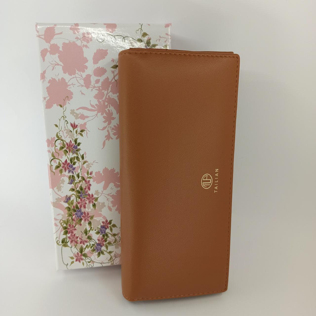 Классический женский кошелек клатч на магнитах из качественной PU кожи Tailian T88200-247