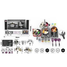 Кухня 555-BX047 (9шт) плита,звук(англ.), світло,табло,посуд,продукти, 32пр,бат,в кор-ке,35,5-25-23см