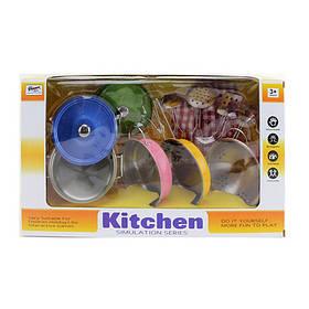 Посуд 555-CS002 (24шт) сковорідки,каструля,кухонь.набір,прихватки,метал,в кор-ке,37,5-21,5-11см