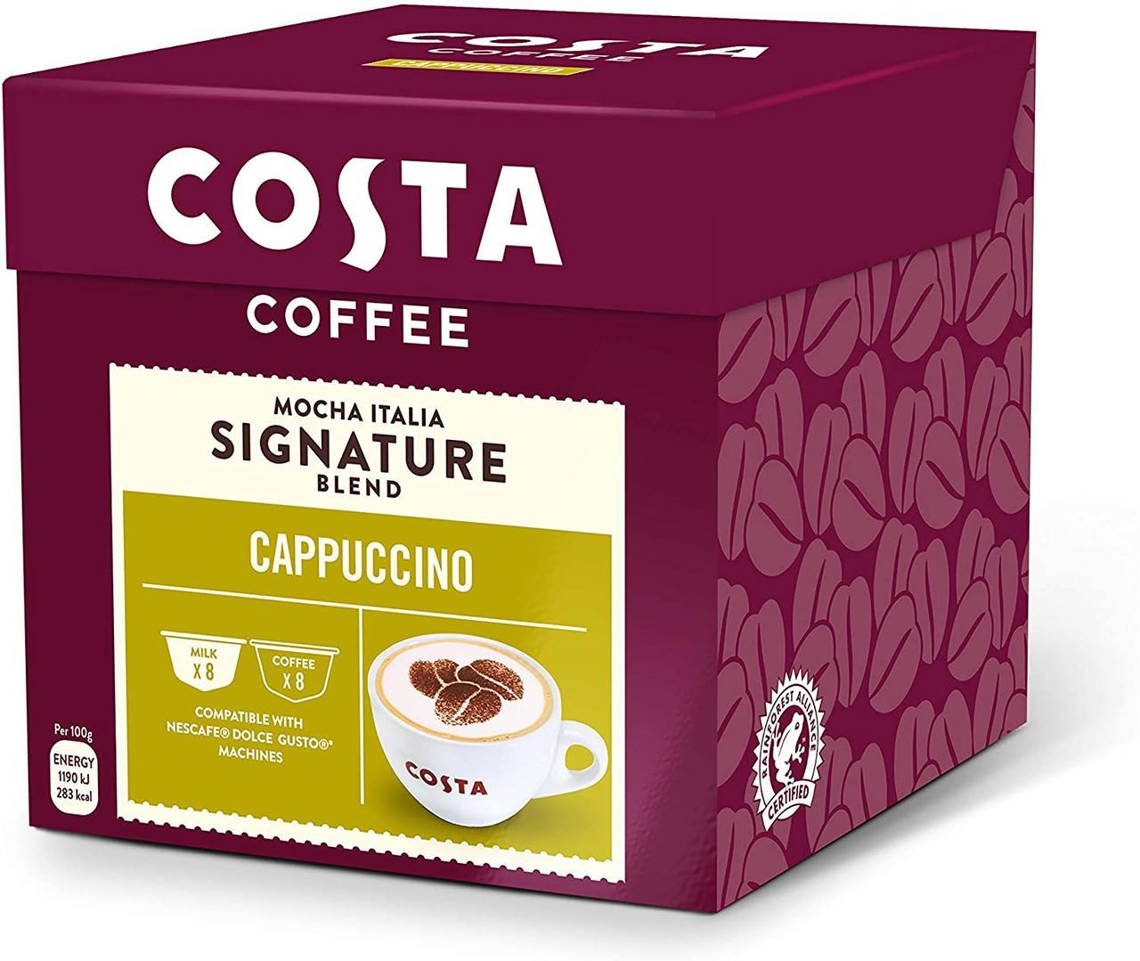 Dolce Gusto COSTA Cappuccino  - Дольче густо КОСТА Капучино   (16 капсул = 8 порций)