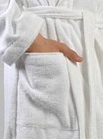Халат махровый шаль XL Пакистан белый