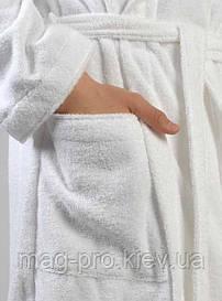 Халат махровий шаль XL Пакистан білий