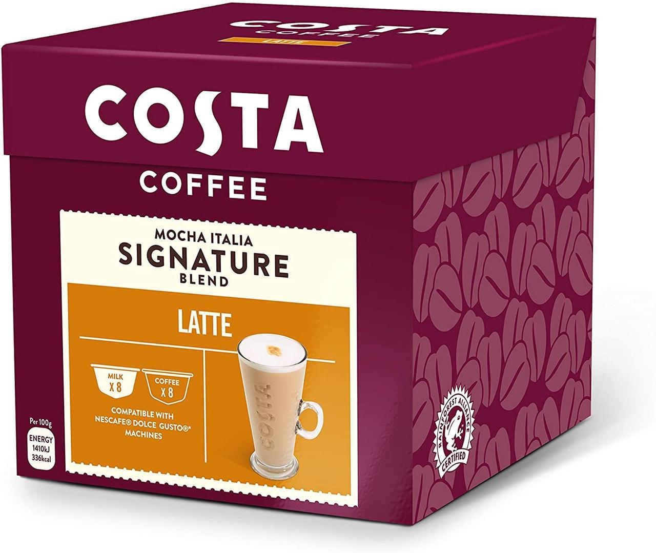 Dolce Gusto COSTA Latte  - Дольче густо КОСТА Латте   (16 капсул = 8 порций)
