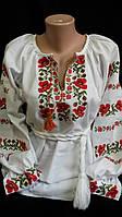 """Украинская женская вышиванка """"Россыпи маков"""" р-ры от 42 до 52, 610/560 (цена за 1 шт. + 50 гр.)"""