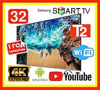 Телевизор Samsung SMART TV 32 дюйма 4К LED Full HD Wi-Fi T2 Самсунг Смарт ТВ 32 на андроид 9