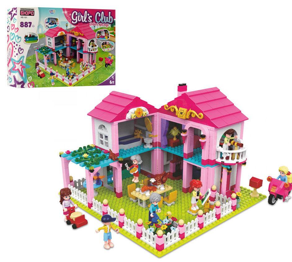 """Конструктор Girls Club """"Затишний будинок"""" (887 деталей) арт. 101"""