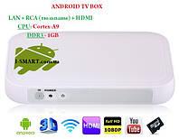 Android 4.0 Amlogic A9 4GB TV Box With Wi-Fi/DDR3-1GB + RCA вход + LAN, фото 1