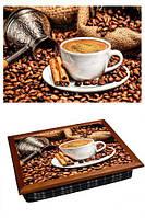 Поднос на подушке 040359 кофе, корица, кофемолка
